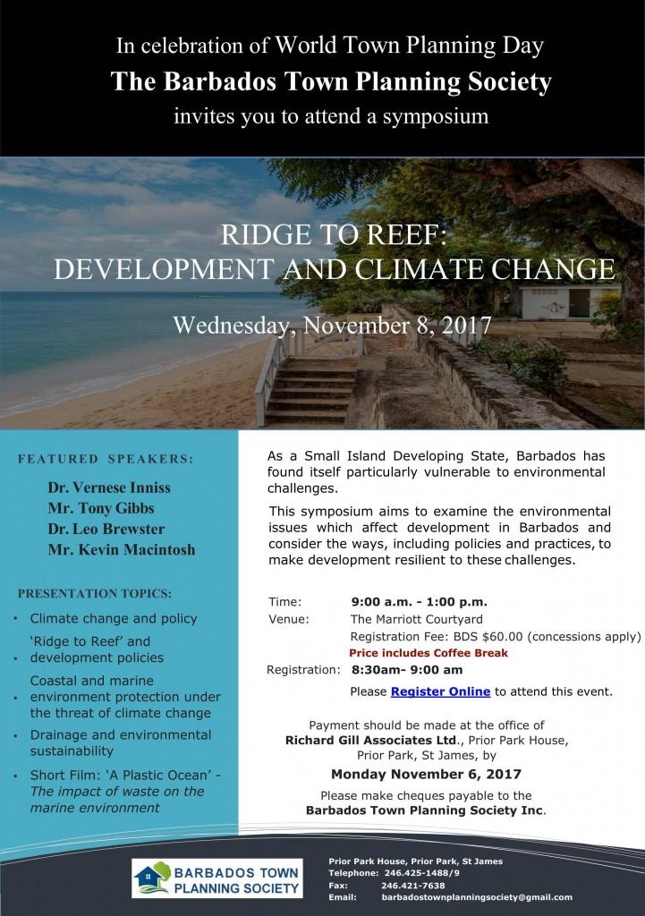 2017 Symposium Flyer - Ridge to Reef