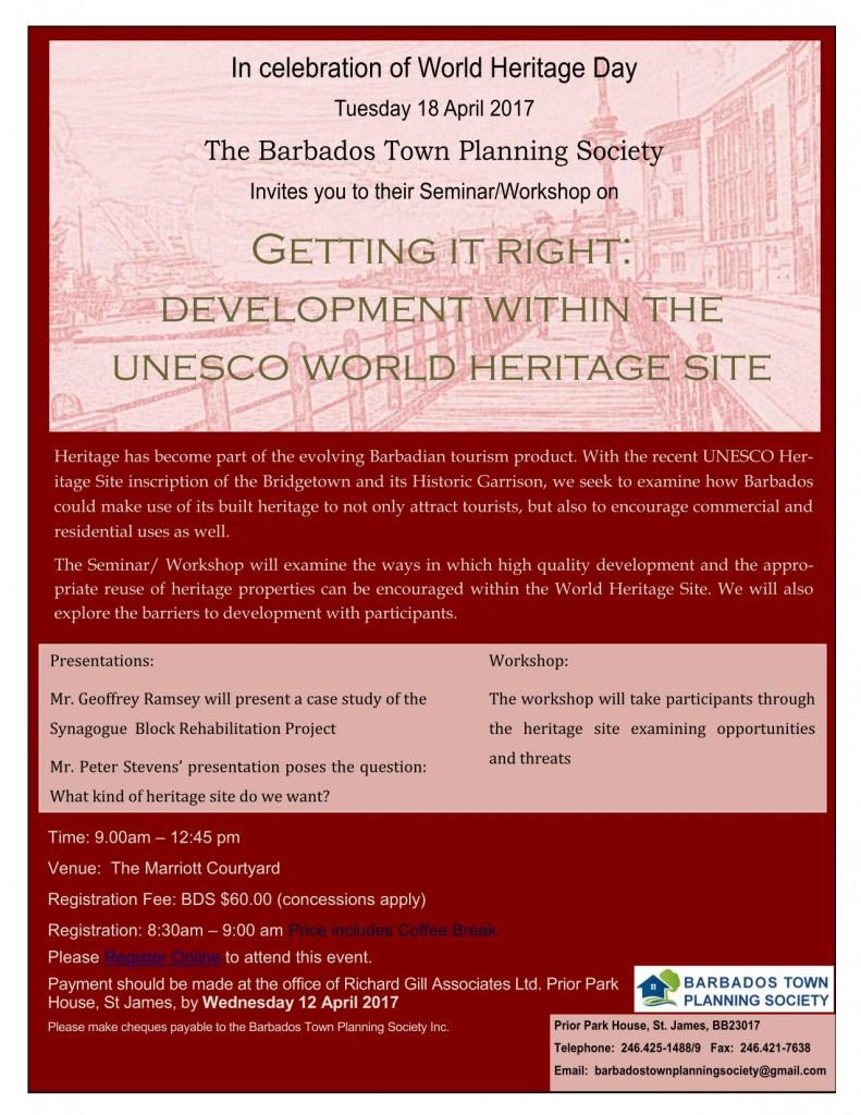 BTPS Heritage Seminar Flyer  2017